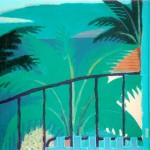 """Hawaii - Beyond the Balcony II"" by Curtis Fields, 1996, 9"" x 12"", acrylic on paper"