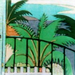 """Hawaii - Beyond the Balcony IV"" by Curtis Fields, 1996, 13.5"" x 17.5"", monotype print"
