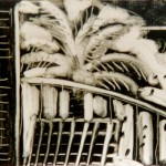 """Hawaii - From the Balcony"" by Curtis Fields, 1995, 5"" x 7.5"", monotype print"