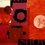 """Show"" by Curtis Fields, 1967, 11"" x 15.5"", acrylic on masonite collage"