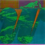 """W"" by Curtis Fields, 1972, 13.5"" x 13.5"", silk screen print"